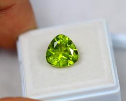 4.79ct Green Peridot Trillion Cut Lot GW3059