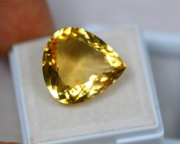 13.04Ct Yellow Citrine Pear Cut Lot LZ1716
