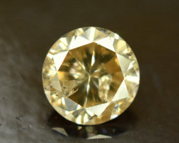 0.50 ^ Carats Yellowish Natural Round Cut Diamond Gemstone