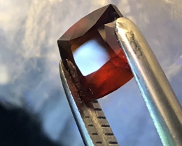 HESSONITE 2.65 CT 100% Natural Orange Red Garnet Hessonite Faceted Cut