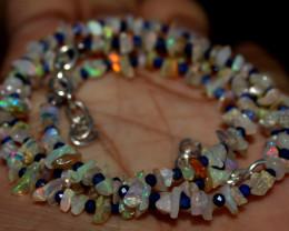 28 Crt Natural Ethiopian Welo Fire Uncut Opal & Lapis Lazuli Beads 1