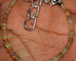 16 Crt Natural Ethiopian Welo Fire Opal Beads Bracelet 109