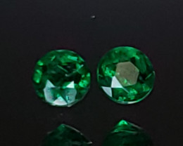 .34TCW Emerald Matching Pair