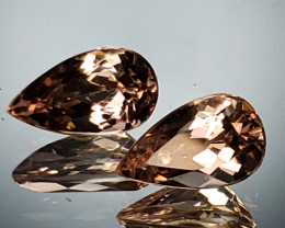 2.38tcw Morganite Pair
