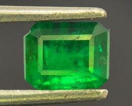 0.75 ct Natural Vivid Green Color Emerald~Swat