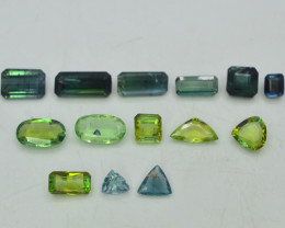 11.50 ct Natural Untreated Tourmaline~Afghanistan LOT