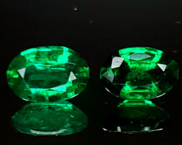 .73TCW Emerald Matching Pair