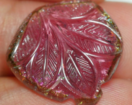 11.50 CRT GORGEOUS CARVING TOURMALINE VERY NICE COLOR-