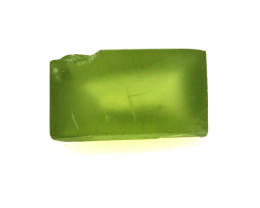6.26cts Natural Preformed Peridot for Baguette Cab
