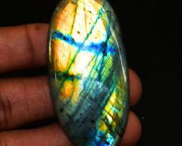 Genuine 95.00 Cts Golden Flash Labradorite Gemstone