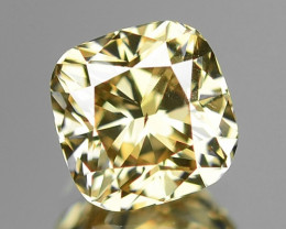 0.52 Cts Untreated Natural Fancy Brownish Yellow Color Loose Diamond VS2