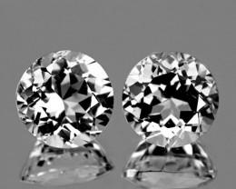 10 mm Round 2 pieces 9.11cts White Topaz [VVS]