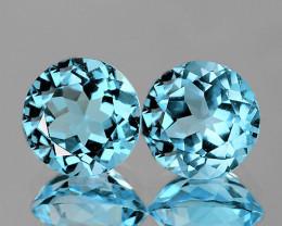 7.0 mm Round 2 pieces 3.37cts Sky Blue Topaz [VVS]