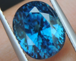 7.54cts, Blue Zircon,  Top Color, Calibrated