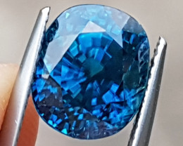7.92cts, Blue Zircon,  Top Color