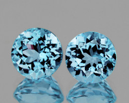 9.0 mm Round 2 Pieces 6.40cts Sky Blue Topaz [VVS]