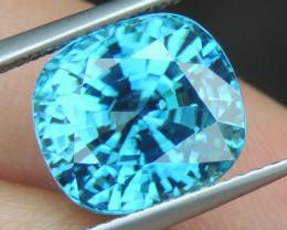 9.00cts, Blue Zircon,  Top Brilliance