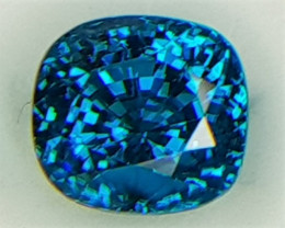 9.27cts, Blue Zircon,  Top Color
