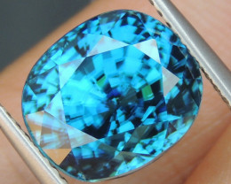 10.41cts, Blue Zircon,  Top Color