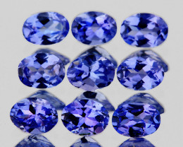 4x3 mm Oval 9 pieces 1.62cts Purple Blue Tanzanite [VVS]