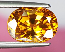 3.84cts, Yellow Zircon,  Clean and Bright
