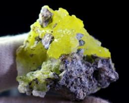 95.30 CT Natural Unheated Rare Yellow Brucite Specimen