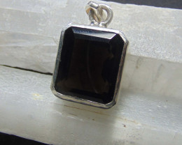 brown quartz ~ pendent ~ hand craft designs silvers 48.65 cts