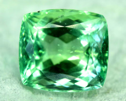 NR Auction - 16.70 Cts Beautifull Cushion Cut Lush Green Spodumene Gemstone