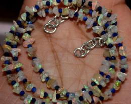 26 Crt Natural Ethiopian Welo Fire Uncut Opal & Lapis Lazuli Beads 5