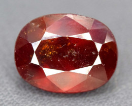 NR Auction - 9.70 Carats Oval Cut Hessonite Garnet Gemstone