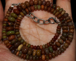 60 Crt Natural Ethiopian Welo Fire Opal Beads Necklace 86