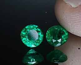 .95TCW Emerald Matching Pair