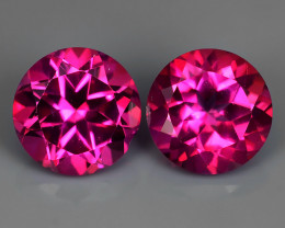 3.10 CTS WONDERFUL COLOR 7.20 MM ROUND PINK TOPAZ 2 PCS