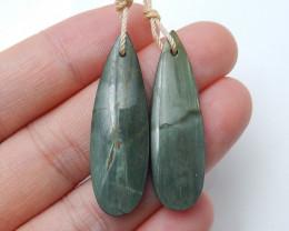 New Green Wood Jasper Earrings ,Healing Stone ,Wholesale Jewelry B 182