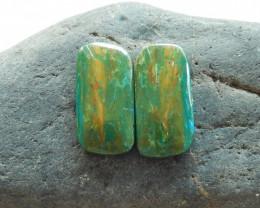 18.5cts Blue Opal Cabochon, October Birthstone, Blue Opal Bead B188