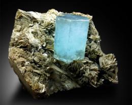 Aquamarine Specimen with Muscovite Mica - 1137 Gram