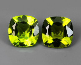 4.14 Cts High Best Natural Apple Green Cushion 8MM Pakistan Peridot~