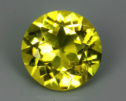 1.85~CTS DAZZLING TOP NATURAL GOLD YELLOW BERYL PERFECT 8.30MM ROUND CUT~