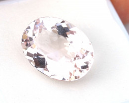 8.17 Carat Oval Cut Morganite Beryl