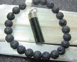 Beautiful  Lava beads cabs Bracelet  8.00mm