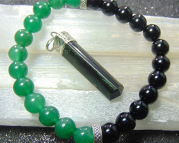 collective PIECES Green Aventurine and Black Onyx Bracelets 8mm