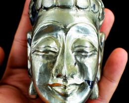 Handcarved Pyrite Buddha Head