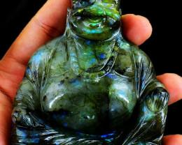 Labradorite Laughing Buddha
