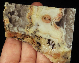 401Ct Crazy Lace Agate AAA+ Quality Facet Rough Specimen from Brazil