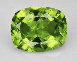 3.2Ct Bright Green Brazilian Peridot Cushion Faceted
