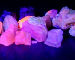 46.05 CT Natural -UV Light Color Change  Purple Hackmanite Specimen Lot