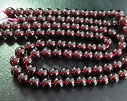2 Pcs 502 ct Unheated ~ Natural Brown color Garnet Beads