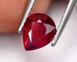 CERTIFIED UNHEATED 1.06Ct Natural Pigeon Blood Red Ruby A2212