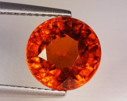 "4.60 ct ""AAA Grade Gem"" Beautiful Round Cut Natural Hessonite Gar"