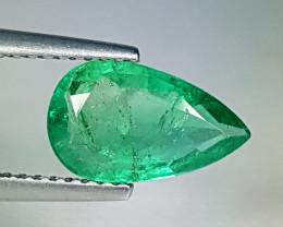 "1.60 ct ""Excellent Gem"" Marvelous Pear Cut Natural Emerald"